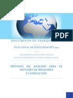 Método de análisis para el estudio de regiones y conflictos