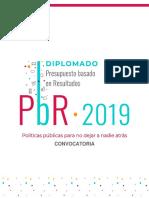 Diplomado PbR 2019. Convocatoria