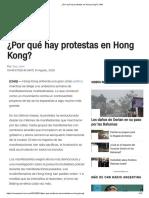¿Por Qué Hay Protestas en Hong Kong _ _ CNN