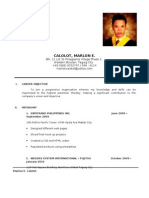 Marlon E. Calolot - Resume
