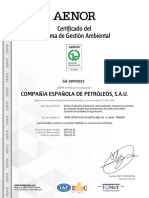 Certificado Iso 14001 Global Cepsa Esp