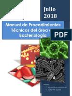 Manual de Procedimientos Técnicos Del Área de Bacteriología Final