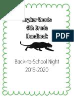 4th grade handbook 19-20