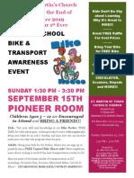 St. Martin's Catholic Church Back-To-school Bike and Transport Awareness Expo 2019 09 15
