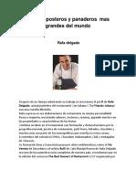 Chefs Reposteros y Panaderos Mas Grandes Del Mundo 1
