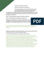 Actividad 2 Evidencia 3 Recomendaciones Alimentarias