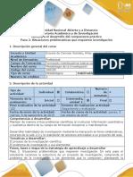 Guía de Actividades y Rúbrica de Evaluación - Paso 2 - Elaborar El Problema de Investigación