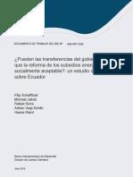 Pueden Las Transferencias Del Gobierno Hacer Que La Reforma de Los Subsidios Energéticos Sea Socialmente Aceptable Un Estudio de Caso Sobre Ecuador (1)