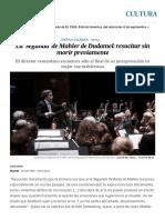 La 'Segunda' de Mahler de Dudamel_ Resucitar Sin Morir Previamente _ Cultura _ EL PAÍS
