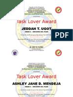 Task Lover Award