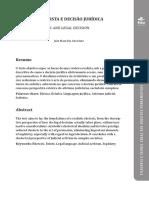 RETÓRICA REALISTA E DECISÃO JURÍDICA - João Maurício Adeodato