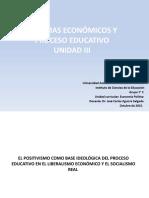 Unidad III Sistemas Económicos y Procesos Educativos