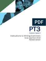 PT3 2019 Marking Scheme