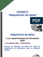 Unidad 2 Adquisición de Datos 2016