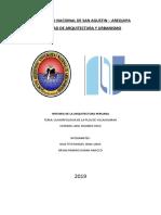 Plan de Investigacion . La Morfologia de La Plaza de Vilcashuaman