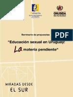 La educación sexual en Uruguay, una materia pendiente.