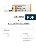 Term Paper of Banking and Insurance
