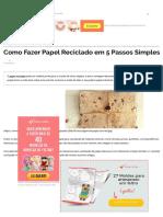 Como Fazer Papel Reciclado Em 5 Passos Simples _ Revista Artesanato