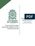 Caracterización de los grupos empresariales Colombianos de cara a la aplicación de las NIIF