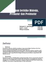 PPT Persalinan berisiko Distosia, Prematur dan Postmatur.pptx