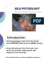 Child Psychology- Definition and Theories