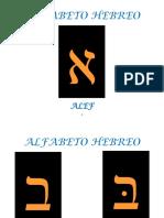 Alfabeto Hebreo Por Letra en Dorado y Negro