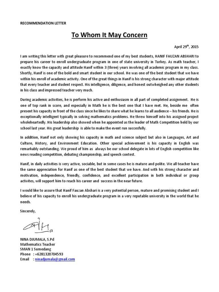 Letter Of Support For Student from imgv2-2-f.scribdassets.com