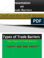 Presentation on Tariff and Non-tariff Barriers