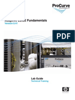 ProCurve Adaptive EDGE Fundamentals 8.41_Lab Activity Guide_20081121