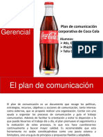 Plan de Comunicación de  Coca Cola