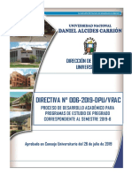 Directiva N° 006-2019-Desarrollo Semestre Academico  2019-B