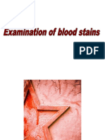 Examination of Blood Stains