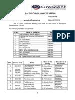 1st Class Committee Minutes - 2014 VIII Sem
