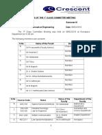 1st Class Committee Minutes - 2017 III Sem