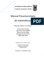 Manual Preuniversitario Matematicas FIAD