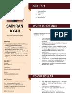 Saikiran Resume