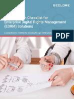 An Evaluation Checklist for Enterprise Rights Management (ERM) Solutions