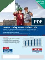 HDFC Retirement Savings Fund - Leaflet - Sept 2017