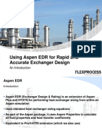 Aspen EDR for Rapid and Accurate Exchanger Design