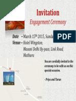 Engagment Invitation