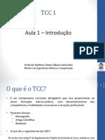 TCC 1 - Aula Introdutória