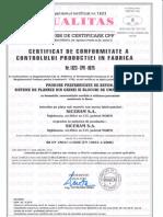 SICERAM Certif. Control Prod in Fabrica Pt Produse Prefabricate de Beton