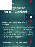 Project Management For ICT Content.ppt