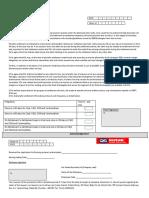 Running Account Authorisation
