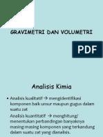 Gravimetri Dan Volumetri (Analisis Kimia)