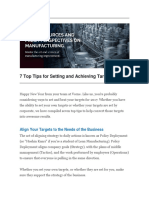 7 Top Tips for Setting and Achieving Targets