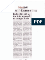 BusinessWorld, Sept, 4, 2019, Budget bill still on track for approval, no changes made.pdf