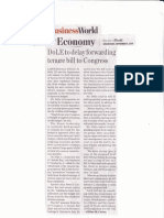 BusinessWorld, Sept, 4, 2019, DOLE to delay forwarding tenure bill to Congress.pdf