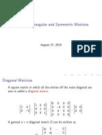 Matriks Simetri, Diagonal dan Segitiga