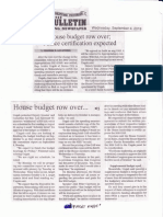Manila Bulletin, Sept 4, 2019, House budget row over. Palace certification expected.pdf
